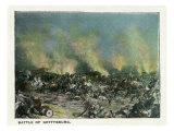 Gettysburg, Pennsylvania - Representation of the Battle of Gettysburg, c.1928 Prints by  Lantern Press