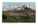 Utah - View of Mount Timpanogos in the Wasatch Mountains, c.1917 Prints by  Lantern Press