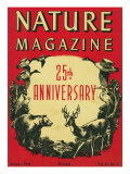 Nature Magazine - 25th Anniversary Issue, View of Wildlife and Birds, c.1948 Prints by  Lantern Press