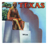 Waco, Texas - Close-Up View of the Statue of R. E. B. Baylor, c.1944 Print by  Lantern Press