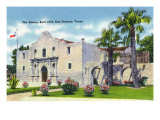 San Antonio, Texas - Exterior View of the Alamo, c.1945 Prints by  Lantern Press