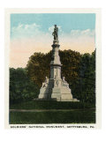 Gettysburg, Pennsylvania - View of the Soldiers' National Monument, c.1928 Prints by  Lantern Press