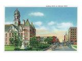 Joliet, Illinois - Northern View Up Chicago Street, c.1945 Prints by  Lantern Press