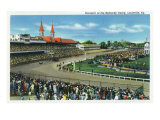 Louisville, Kentucky - General View of Crowds at the Kentucky Derby, c.1939 Print by  Lantern Press