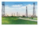 Abilene, Texas - a Typical View of a Texas Oil Field, c.1943 Print