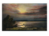 Puget Sound, Washington - Sunset View from the Waterfront, c.1928 Art by  Lantern Press