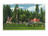 Lake Arrowhead, California - Exterior View of the North Shore Tavern, c.1949 Print