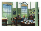Fort Myers, Florida - T. Edison Winter Home, View of Edison at His Desk in Laboratory Office Art