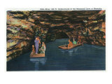 Mammoth Cave Nat'l Park, Kentucky - View of the Underground Echo River in the Mammoth Caves, c.1939 Prints