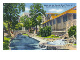 San Antonio, Texas - View of the Venice of America, Along the San Antonio River, c.1945 Poster by  Lantern Press