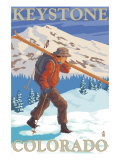 Skier Carrying - Keystone, Colorado, c.2008 Prints by  Lantern Press