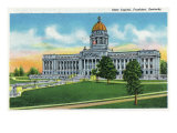Frankfort, Kentucky - Exterior View of the State Capitol, c.1939 Posters by  Lantern Press