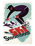 Ski Steamboat Springs, Co - Vintage Travel Poster, c.2008 Posters by  Lantern Press