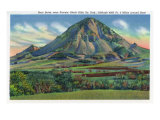 Black Hills, South Dakota - Panoramic View of Bear Butte Near Sturgis, c.1935 Posters