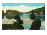 Whidbey Island, Washington - Deception Pass View from Puget Sound, c.1928 Prints by  Lantern Press
