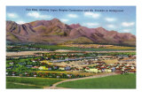 El Paso, Texas - Aerial Panoramic View of Fort Bliss, Logan Heights Cantoment, c.1940 Art by  Lantern Press