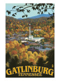 Gatlinburg, Tennessee Town Scene, c.2008 Posters by  Lantern Press