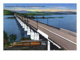 Pennsylvania - View of the Susquehanna River Bridge on the Pa Turnpike, c.1945 Prints