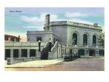 Joliet, Illinois - Exterior View of Union Station, c.1944 Prints by  Lantern Press