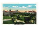 Chicago, Illinois - Panoramic View of the University of Chicago Campus, c.1929 Posters by  Lantern Press