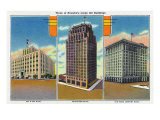 Houston, Texas - Exterior View of Oil and Gas, Petroleum, and Texas Company Buildings, c.1948 Prints