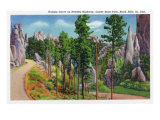 Custer State Park, South Dakota - Autumn View Along Needles Highway, Hairpin Curve, c.1935 Posters by  Lantern Press