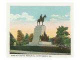 Gettysburg, Pennsylvania - View of the Virginia State Memorial, c.1928 Art by  Lantern Press