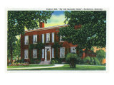 "Bardstown, Kentucky - Exterior View of ""My Old Kentucky Home"" on Federal Hill, c.1939 Posters by  Lantern Press"