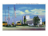Dallas, Texas - State Fair, Exterior View of the Hall of State and the Court of Honor, c.1941 Posters by  Lantern Press