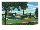 Joliet, Illinois - Scenic View of the Pilcher Park Arboretum, c.1945 Posters by  Lantern Press