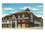 Joliet, Illinois - Exterior View of the Woodruff Hotel, c.1945 Print by  Lantern Press