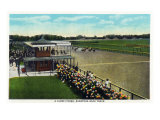 Saratoga Springs, New York - View of a Close Finish at the Horse Race Track, c.1914 Posters