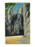 Custer State Park, South Dakota - Needles Highway View Through the Big Tunnel, c.1937 Posters by  Lantern Press