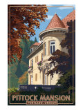 Pittock Mansion - Portland, Oregon, c.2008 Posters by  Lantern Press