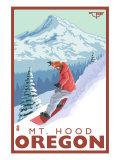 Timberline Lodge - Snowboard Mt. Hood, Oregon, c.2009 Posters by  Lantern Press