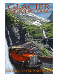 Glacier National Park - Going-To-The-Sun Road, c.2009 Posters by  Lantern Press