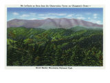Great Smoky Mts. Nat'l Park, Tn - Clingman's Dome Observation Tower View of Mt. Le Conte, c.1941 Prints