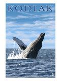 Kodiak, Alaska - Humpback Whale, c.2009 Prints by  Lantern Press