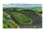 Great Smoky Mts. Nat'l Park, Tn - View of Clingman's Dome Parking Area, c.1937 Posters