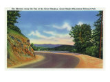 Great Smoky Mts. Nat'l Park, Tn - View of the Skyway Along the Top of the Great Smokies, c.1941 Posters