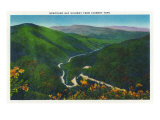 Great Smoky Mts. Nat'l Park, Tn - Aerial View of the Newfound Gap Hwy from Chimney Tops, c.1946 Poster