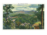 Great Smoky Mts. Nat&#39;l Park, Tn - Panoramic View of Mt. Le Conte, c.1940 Print