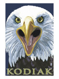 Kodiak, Alaska - Eagle Up Close, c.2009 Print by  Lantern Press