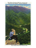 Great Smoky Mts. Nat'l Park, Tn - Hiker Looking at Mt. Le Conte, Newfound Gap Hwy Loop, c.1941 Poster