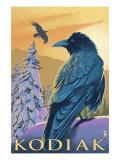Kodiak, Alaska - Ravens, c.2009 Prints by  Lantern Press