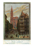 Strasbourg, France - View of Crowded Streets and Cathedral, Alsace and Lorraine Railways, c.1920 Prints