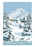 Timberline Lodge - Winter - Mt. Hood, Oregon, c.2009 Posters by  Lantern Press