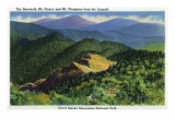 Great Smoky Mts. Nat'l Park, Tn - Jumpoff View of the Sawteeth, Mt. Guyot and Chapman, c.1941 Posters