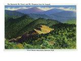 Great Smoky Mts. Nat'l Park, Tn - Jumpoff View of the Sawteeth, Mt. Guyot and Chapman, c.1941 Posters by  Lantern Press