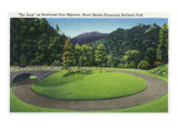 """Great Smoky Mts. Nat'l Park, Tn - View of the Newfound Gap Highway """"Loop"""", c.1936 Print"""
